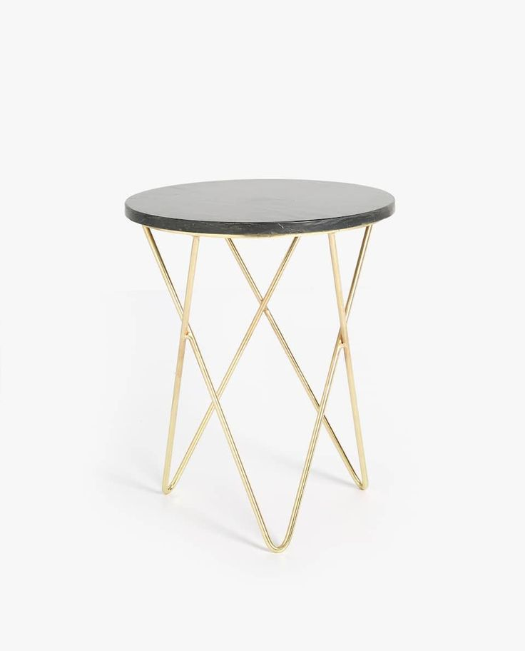 Zara Home Accessories Italia – Black marble table with gold base… #ZaraHome #A…