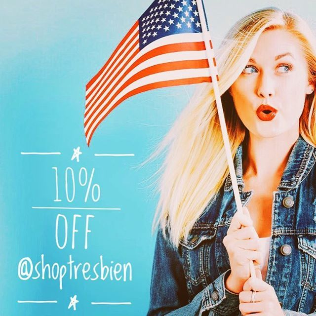In honor of Independence Day 🇺🇸We are giving  10% off any styles ONLINE in RED or BLUE colors! ❤️💙 Promo lasts until July 4th so hurry! 💫 PROMO CODE: TB4JULY 😍