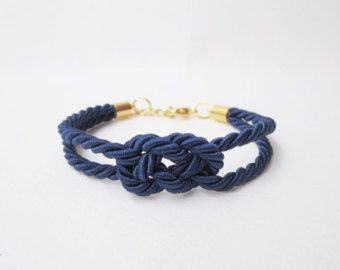 will you be my bridesmaid gift,tie the knot bracelet, nautical wedding gift, infinity bracelet in navy, rope bracelet,beach wedding