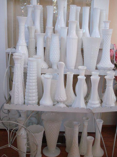 75 Best Milk Glassvases Images On Pinterest Milk Glass Glass