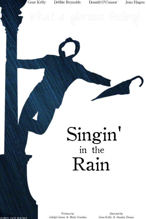 Singing in the rain...It definitely makes me smile.