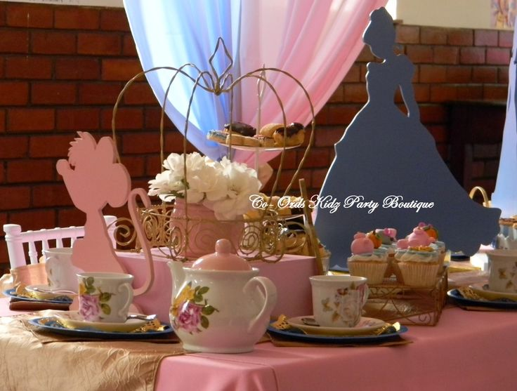 Cinderella themed High Tea for little ladies by Co-Ords Kidz party Boutique