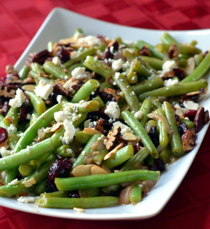 beans!! Sautéed shallots, garlic, roasted pecans, maple syrup, Dijon ...