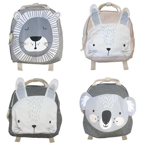 STYLE | The perfect pre-kindy back packs featuring our favourite Mister Fly gang members 🐰 Shop now .  .  .  .  #love #backpacks #bunny #lion #koala #kids #kidsgift #kinder #style #coolkids #misterflykids
