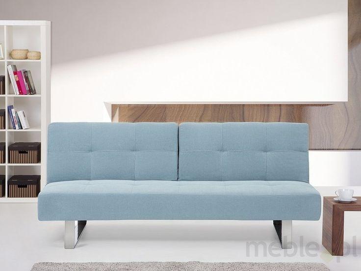 Rozkładana sofa ruchome oparcie - DUBLIN miętowy, Beliani - Meble