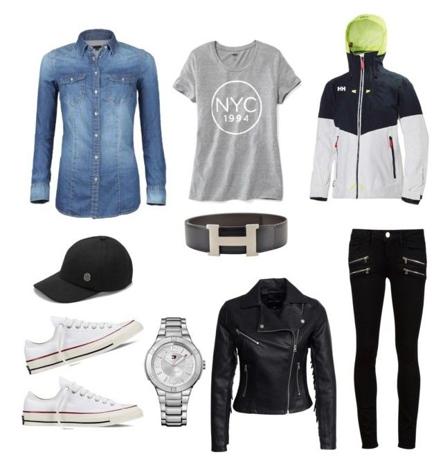 """Untitled #3"" by m-i-r-v-a-k on Polyvore featuring Helly Hansen, Paige Denim, Converse, Vince Camuto, Old Navy, Hermès, Tommy Hilfiger and New Look"