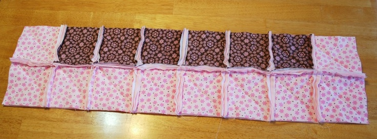 how-to make a rag quilt. Good visual for seams,. batting, the whole process.