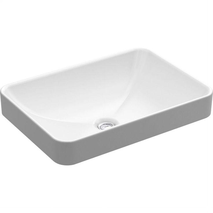 Kohler K-5373-0 Vox White Above-Counter Single Bowl Bathroom Sinks |eFaucets.com