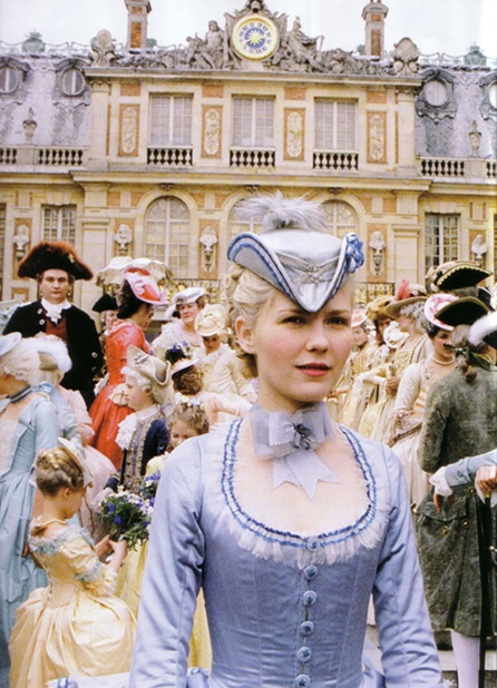 Marie Antoinette played by Kirsten Dunst   What it would be like to live at the palace of versaille, france.  http://www.amazon.com/gp/product/B000NGYLOM?ie=UTF8=1789=B000NGYLOM=xm2=taddhoover-20