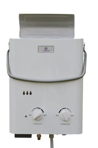 Tankless Water Heater for a Tiny House. Eccotemp L5 Portable Tankless Water Heater and Outdoor Shower by Eccotemp Systems, http://www.amazon.com/dp/B000TXOJQ4/ref=cm_sw_r_pi_dp_Mnmwrb0ZZZZZM