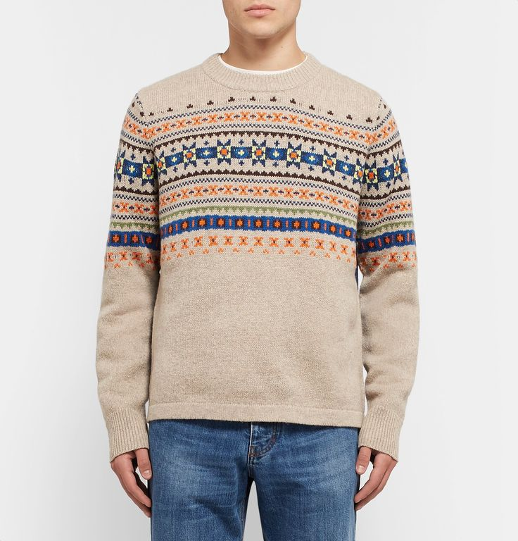 Inspired by a photograph Creative Director Ms Louise Trotter found of her parents in the '70s, <a href='http://www.mrporter.com/mens/Designers/Joseph'>Joseph</a>'s Fall '17 collection combines British traditionalism with contemporary designs. This pure wool sweater is expertly knitted in a Fair Isle pattern and has an elongated back hem. Wear yours with cuffed jeans and sturdy shoes.