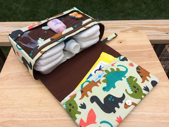 New and larger dinosaurs diaper bag organizer diaper clutch