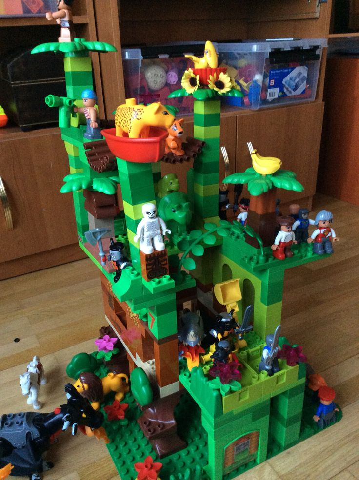 our lego duplo jungle castle lego duplo inspiration pinterest lego duplo lego ideas and. Black Bedroom Furniture Sets. Home Design Ideas