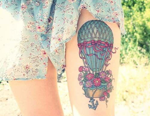 kadın üst bacak dövmeleri women thigh tattoos