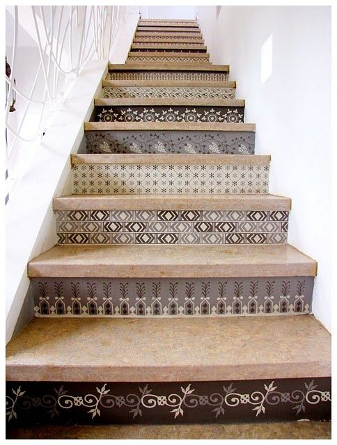Pinterest Home Decorating Ideas | home decor ideas / tiled stairs