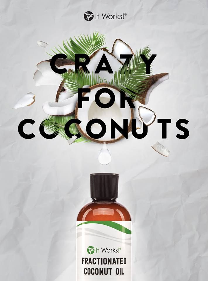 Our Fractionated Coconut Oil leaves even the driest skin feeling soft, silky, and smooth! [ plus, it's the perfect companion for your It Works! Essential Oils! ]