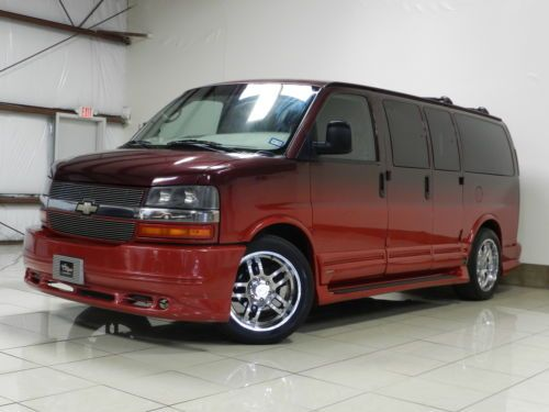 Chevrolet Express low top Southern Comfort Conversion Van tv dvd Tow Cars in Houston TX.