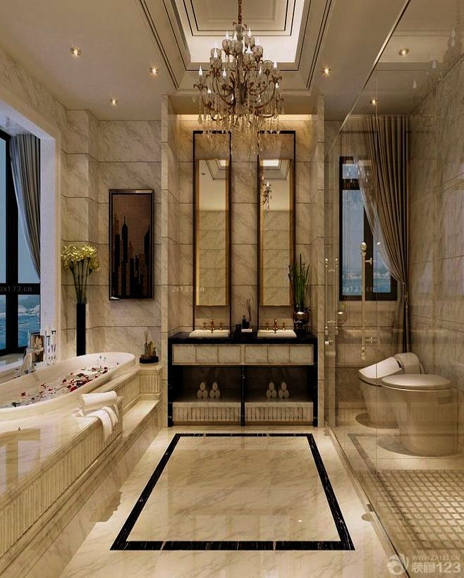 Luxury Bathrooms On Pinterest Elegant Bathroom Lighting Ideas