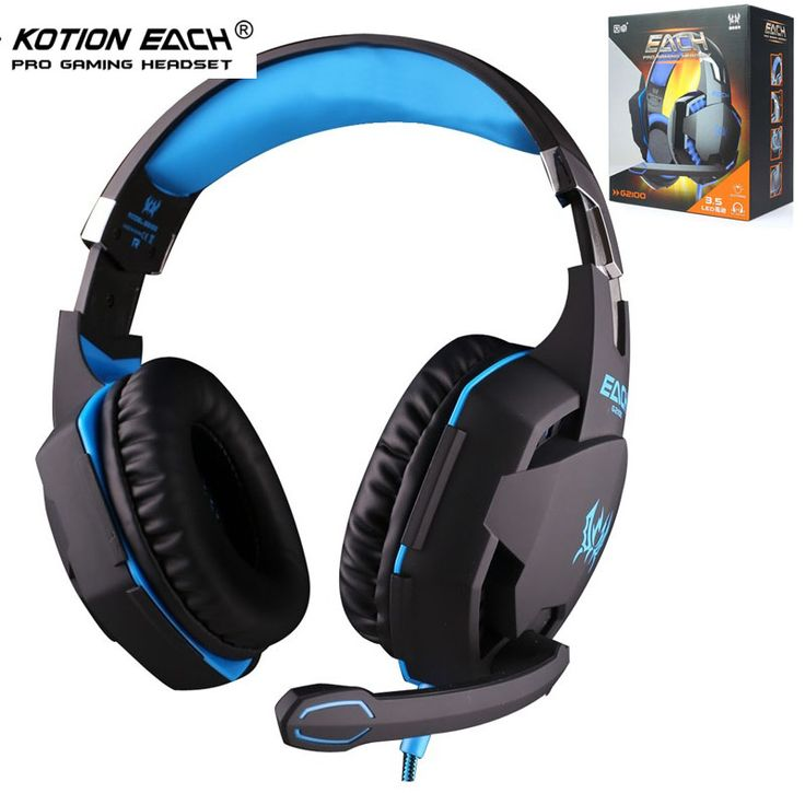 EACH G2100 3.5mm Gaming Headphone Headset Vibration Stereo Bass Game Fone De Ouvido W/ MIC Stereo Bass LED Light for PC Gamer