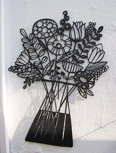 Flowers paper cut