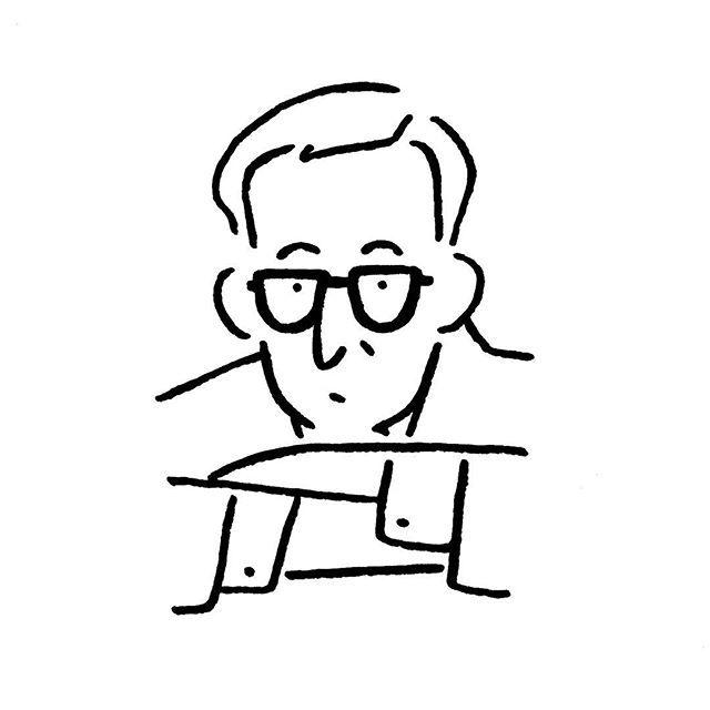 Woody Allen. #woodyallen #newyork #yunagaba #kaerusensei #art #長場雄