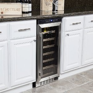 Built in wine cabinet to replace trash compactor