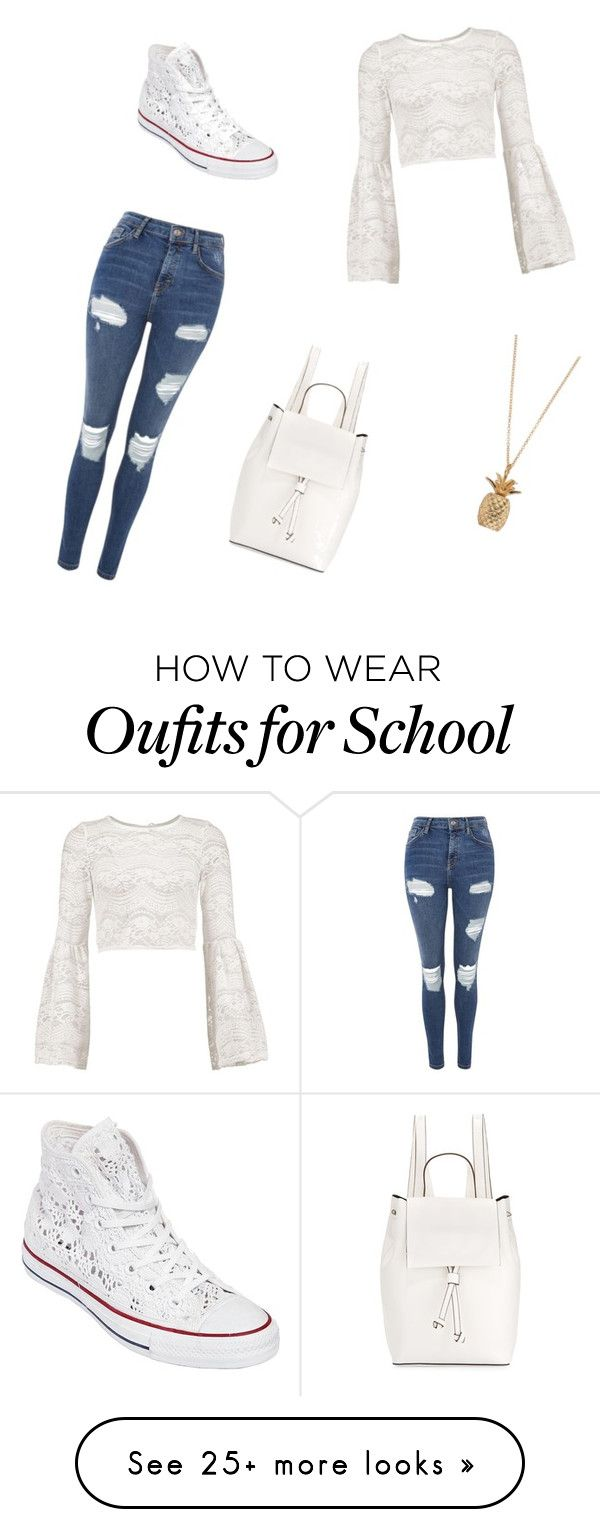 """The start of school #1"" by marope on Polyvore featuring Topshop, Boohoo, Converse and French Connection"