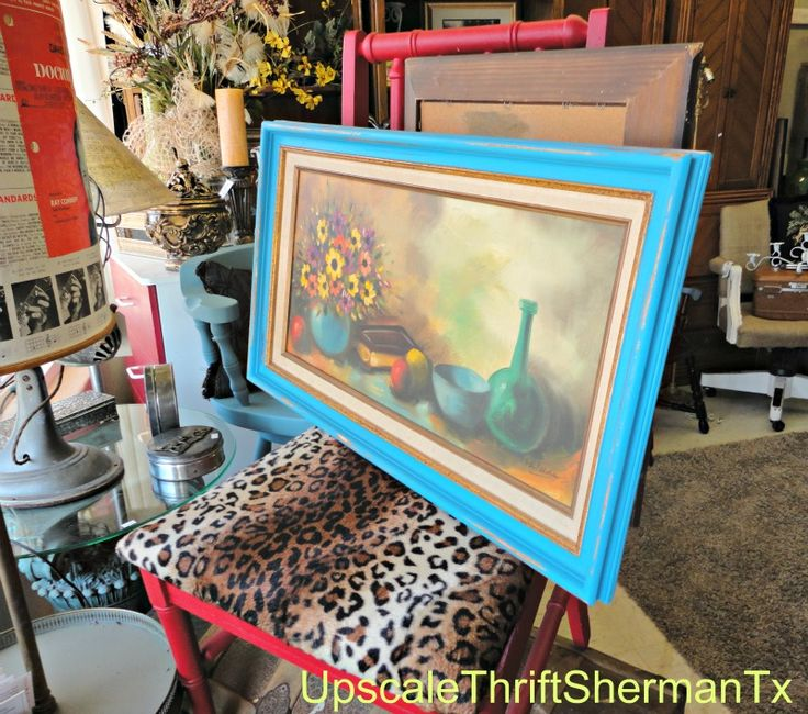From Repurposed Frames To Chairs To Lampshades At Upscale Thrift Sherman,Tx