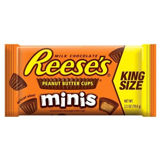 Reese's Minis Peanut Butter Cups King Size 2.5 oz : Target