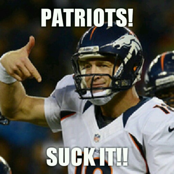Peyton Manning telling the Patriots what they can do.