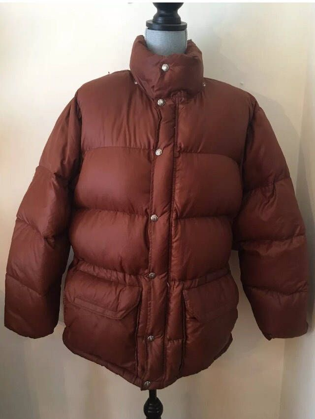 Excited to share the latest addition to my #etsy shop: Vintage North Face Mens L Sierra goose down rust puffer jacket http://etsy.me/2oXkpsJ #clothing #men #jacket #copper #l #menslarge #vintage #northface #goosedown