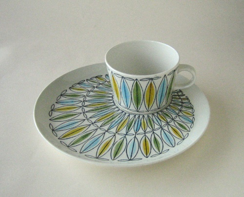 Arabia Cup and Saucer #arabia #finland #cup #saucer #china, vintage