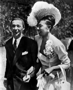 Josephine Baker marries Jo Bouillon in a chateau near St. Cyprien, France, on June 3, 1947. Biographers disagree on how many times she was married, but they say it was at least three times. (Associated Press)