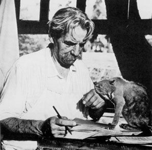 Albert Schweitzer and writing buddy.