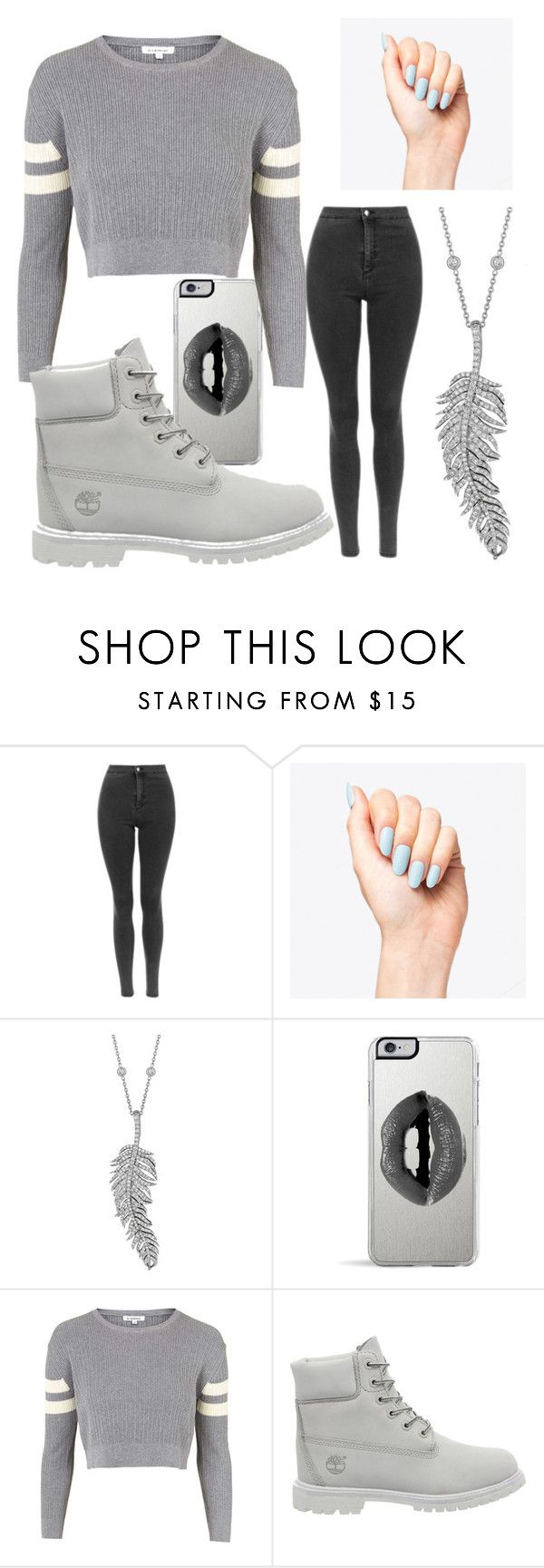 """a highschool football game"" by childishbeauty ❤ liked on Polyvore featuring Penny Preville, Lipsy, Topshop and Timberland"
