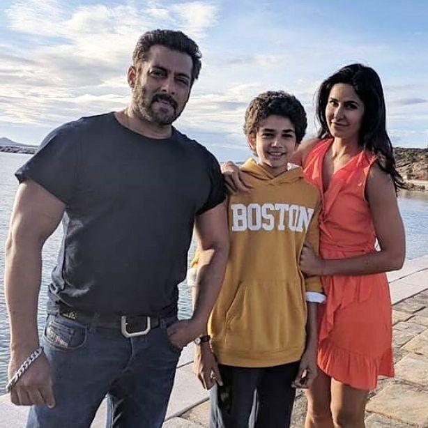 Salman Khan and Katrina Kaif snapped with young actor Ranjeet on the sets of Tiger Zinda Hai.…