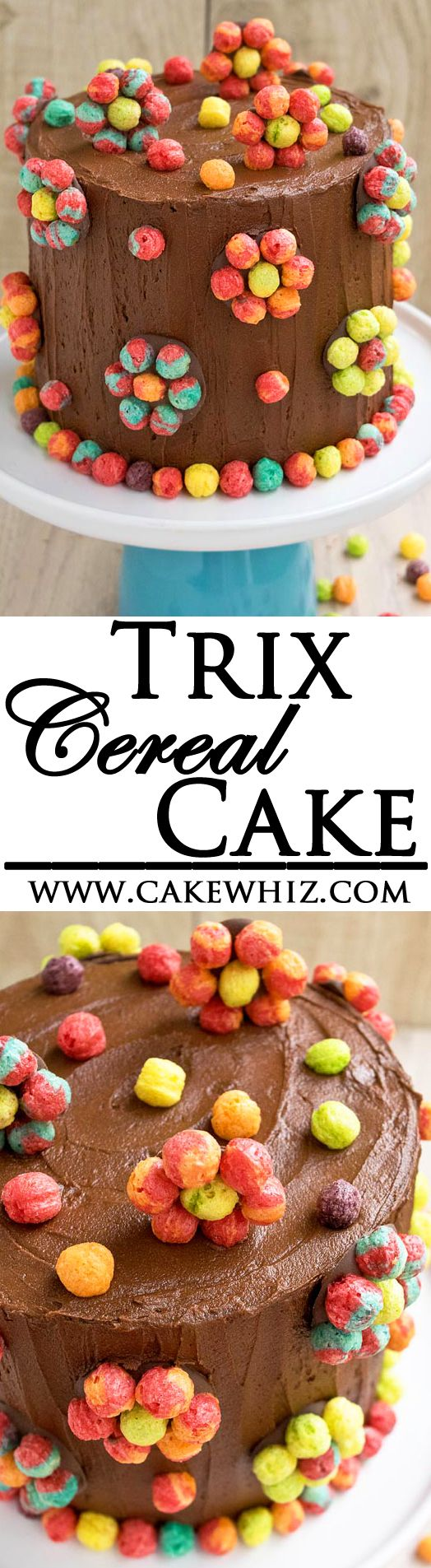 Use this step by step cake decorating tutorial to make an easy TRIX CEREAL CAKE. It's very pretty and colorful. Perfect for Spring parties and girls birthday parties. From cakewhiz.com