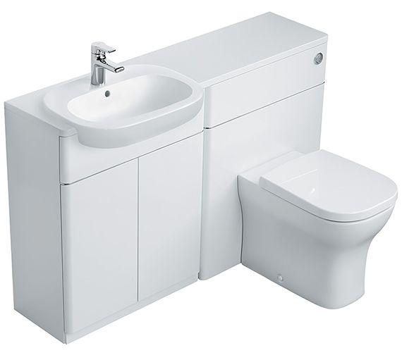 Ideal Standard SoftMood Basin Unit and WC Unit. 1300mm. In Walnut (light). £1,060. 322mm deep.