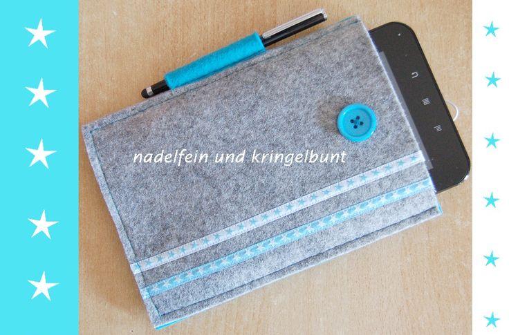 Filztasche für den Tablet PC Filz Tasche handmade Hülle Filzhülle   http://nadelfein.blogspot.de