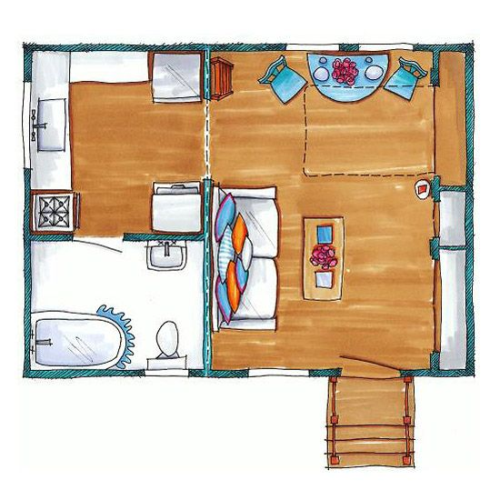 Thoughtful Layout -- would still prefer a loft over a murphy bed.