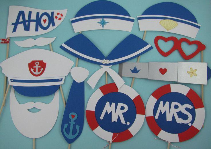 """Weiteres - Photo Booth """"Hochzeit Maritim"""" - ein Designerstück von Piratenbraut71 bei DaWanda"""