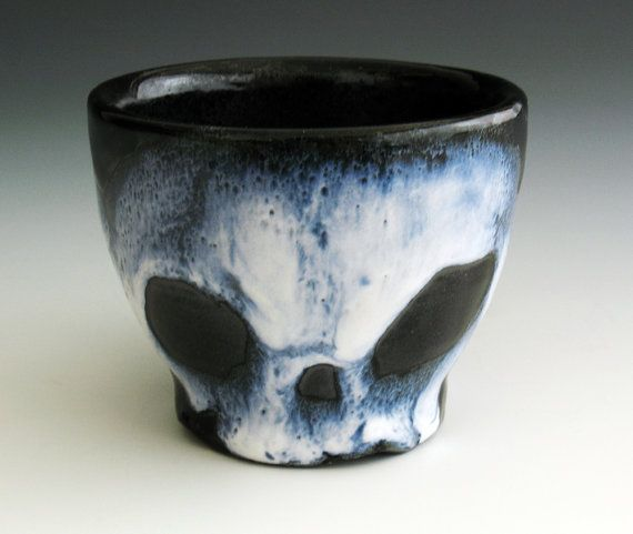 Ghostly Skull Teacup by nicolepangas on Etsy