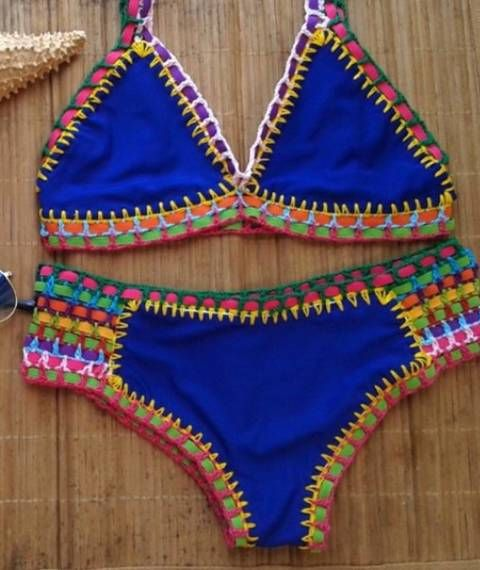 8dba98566302 Imagem relacionada Biquínis Neon, Maio Em Croche, Cropet De Croche, Como  Fazer Biquini