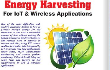 """""""Energy Harvesting based devices to reduce total cost of ownership for IoT adopters"""" - Electronics Maker magazine recently interviewed Vidyasagar, Head of Automation BU, Product Engineering Services. Check out this interesting article about how Energy Harvesting (EH) technology is complementing widespread adoption of IoT. Know more about Smart Home Automation IoT demo here - http://www.embitel.com/product-engineering/mobility-iot/iot-services"""