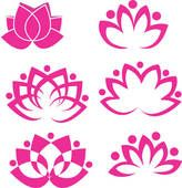 Clipart of Lotus Set 2 k6051523 - Search Clip Art, Illustration Murals, Drawings and Vector EPS Graphics Images - k6051523.eps
