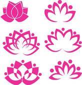 Utklipp - rosa, lotus blomst, logo k15640427 - Søk utklipp, illustrasjonsplakater, tegninger og vektorbaserte EPS-grafikkbilder - k15640427.eps