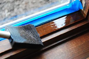 How to Touch Up Painted and Stained Woodwork - Matt and Shari