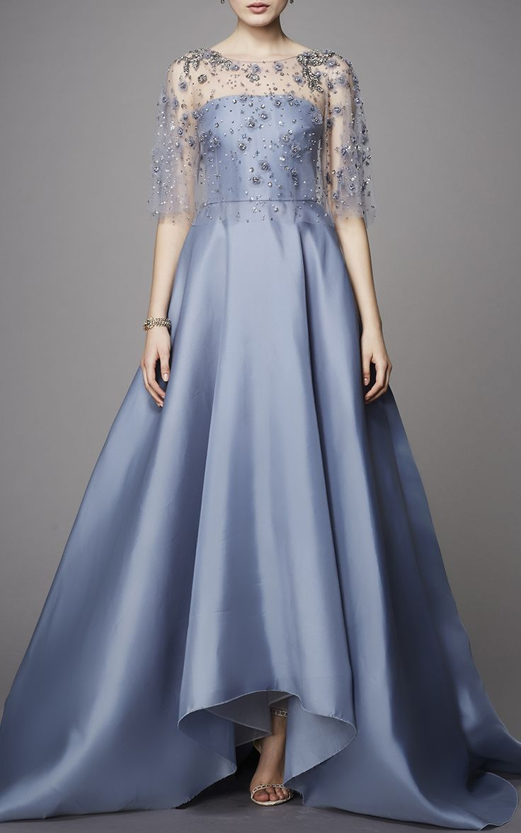 Embroidered Capelet Gown by Marchesa | Moda Operandi