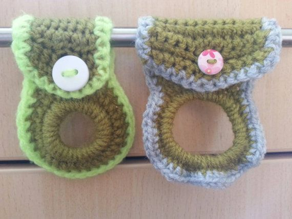 Two tea towel holders with elastic circle to by CraftedbyKizzy