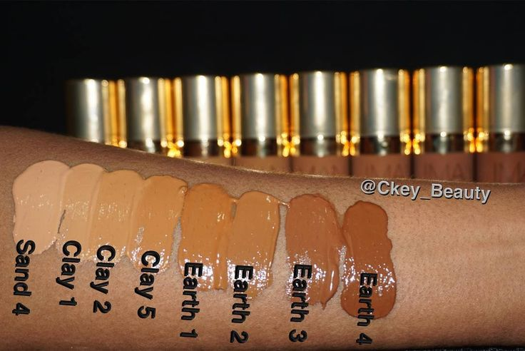 IMAN Cosmetics • 2-in-1 Luxury Concealing Foundation Swatches